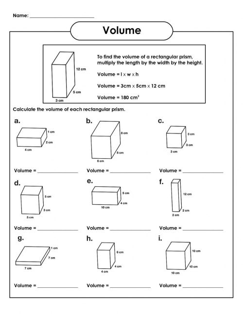 small resolution of Volume of rectangular prism interactive worksheet