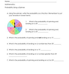 Probability as a Fraction interactive worksheet [ 1291 x 1000 Pixel ]