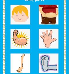 Body parts online exercise for Grade 1 [ 1413 x 1000 Pixel ]