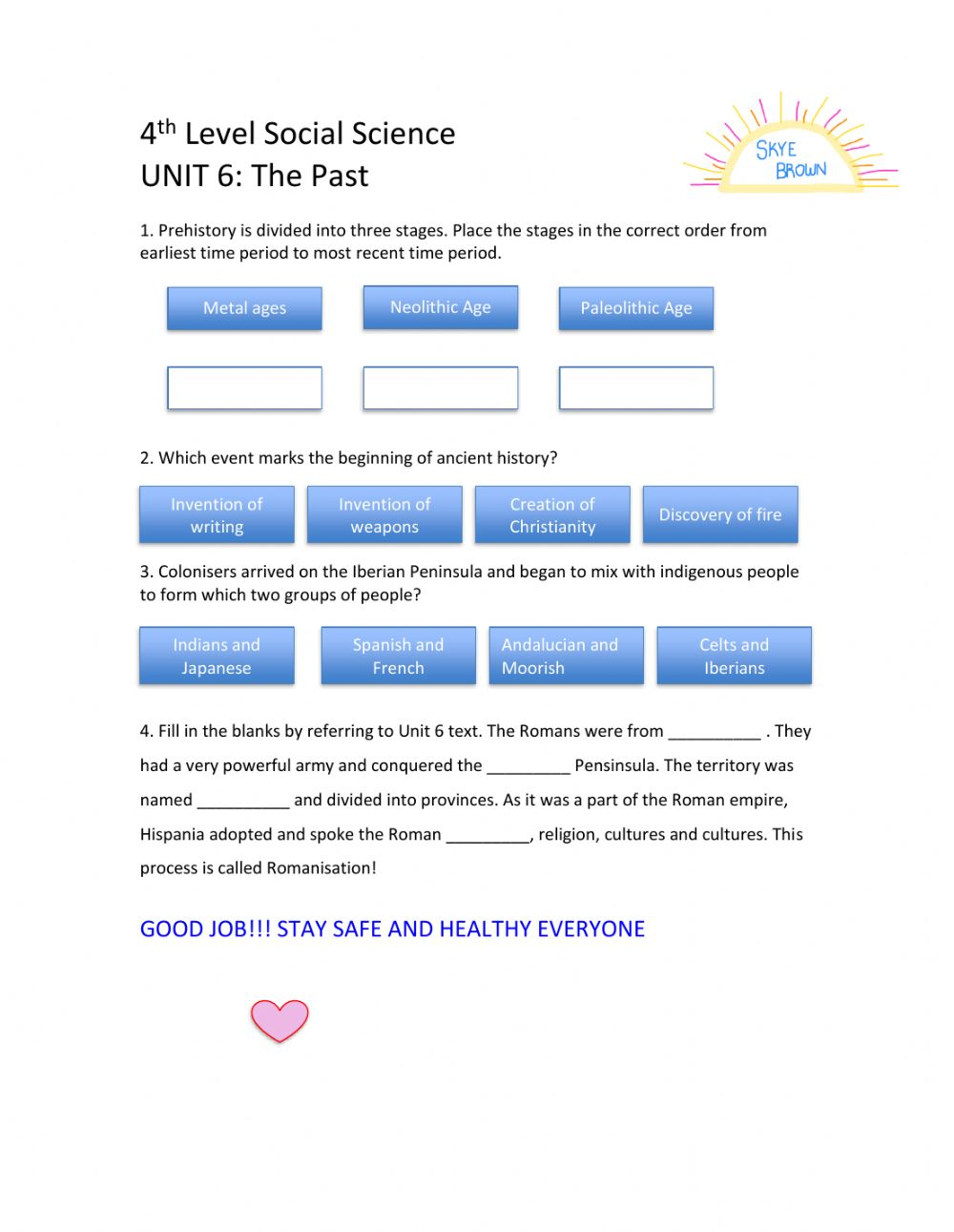 hight resolution of 4th level Social Science Unit 6 interactive worksheet