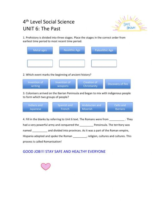 small resolution of 4th level Social Science Unit 6 interactive worksheet