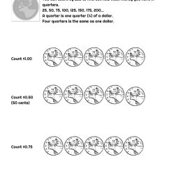 Canadian Money Count and Tick worksheet [ 1291 x 1000 Pixel ]