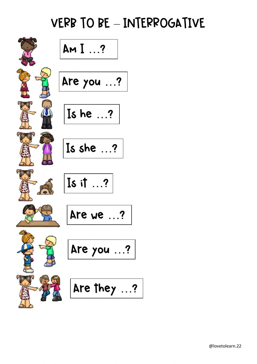 hight resolution of Verb to be interrogative interactive worksheet