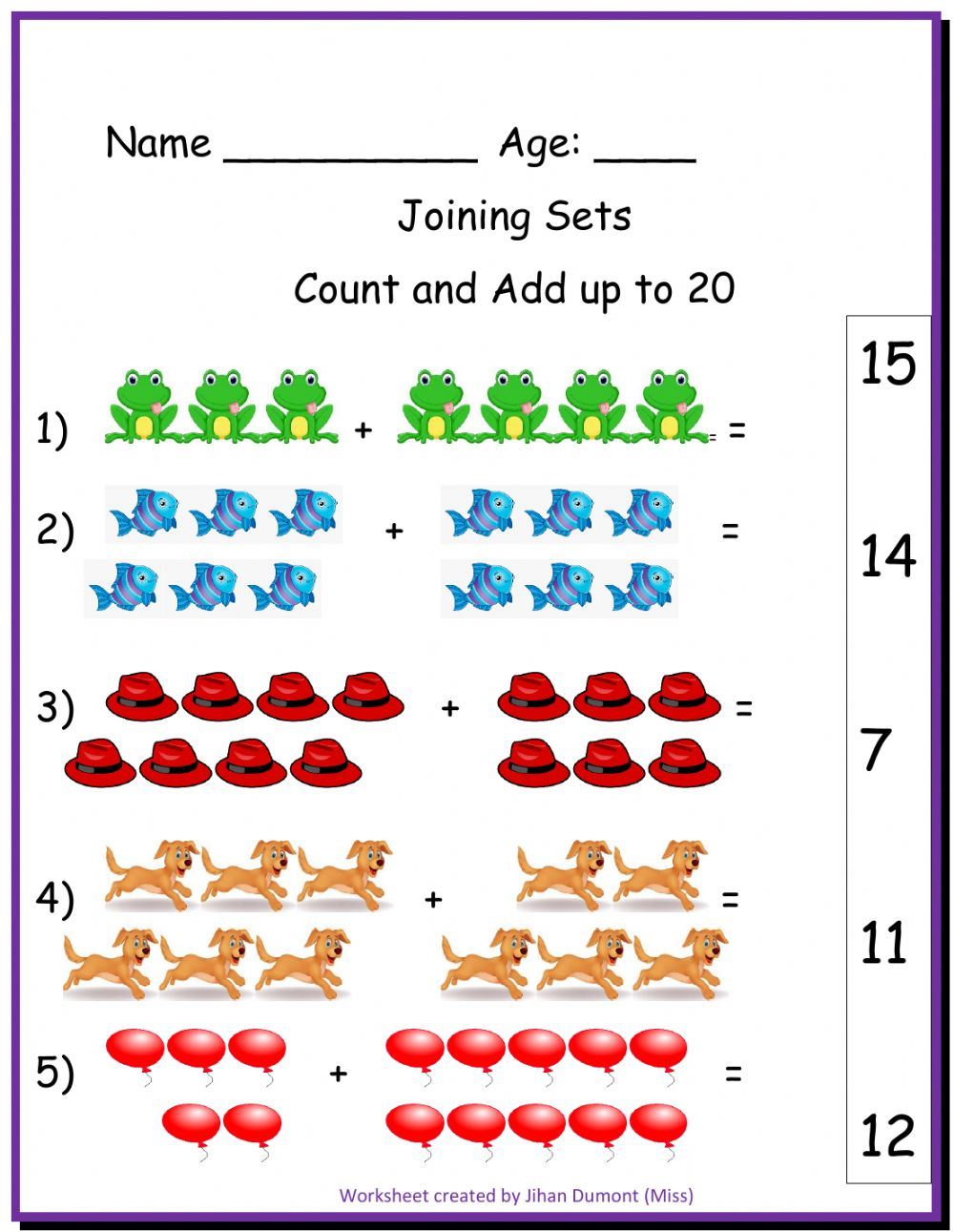 hight resolution of Joining Sets interactive worksheet