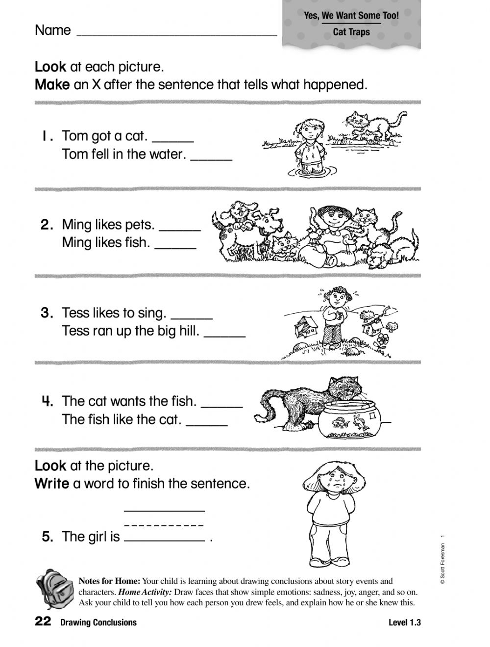 hight resolution of Drawing Conclusions interactive worksheet