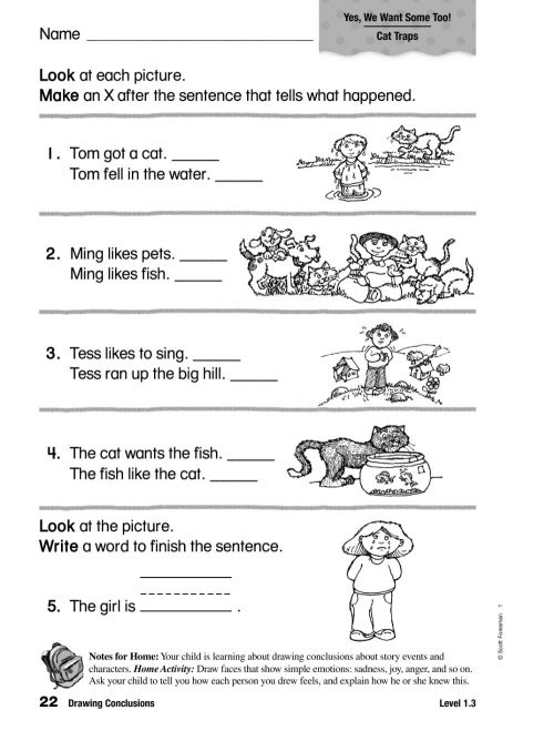 small resolution of Drawing Conclusions interactive worksheet