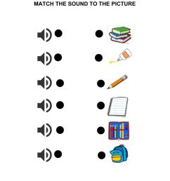 School objects online exercise for 1st GRADE [ 1291 x 1000 Pixel ]