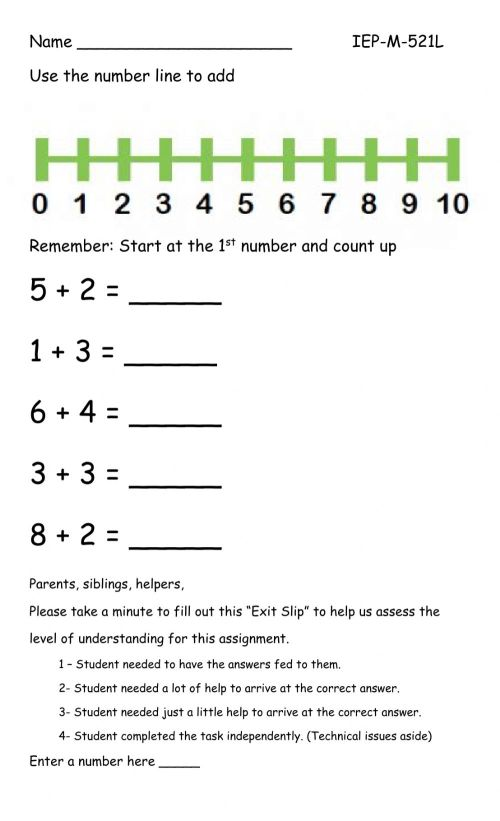 small resolution of Number line addition interactive worksheet