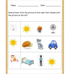 Rhyming Word interactive worksheet [ 1291 x 1000 Pixel ]