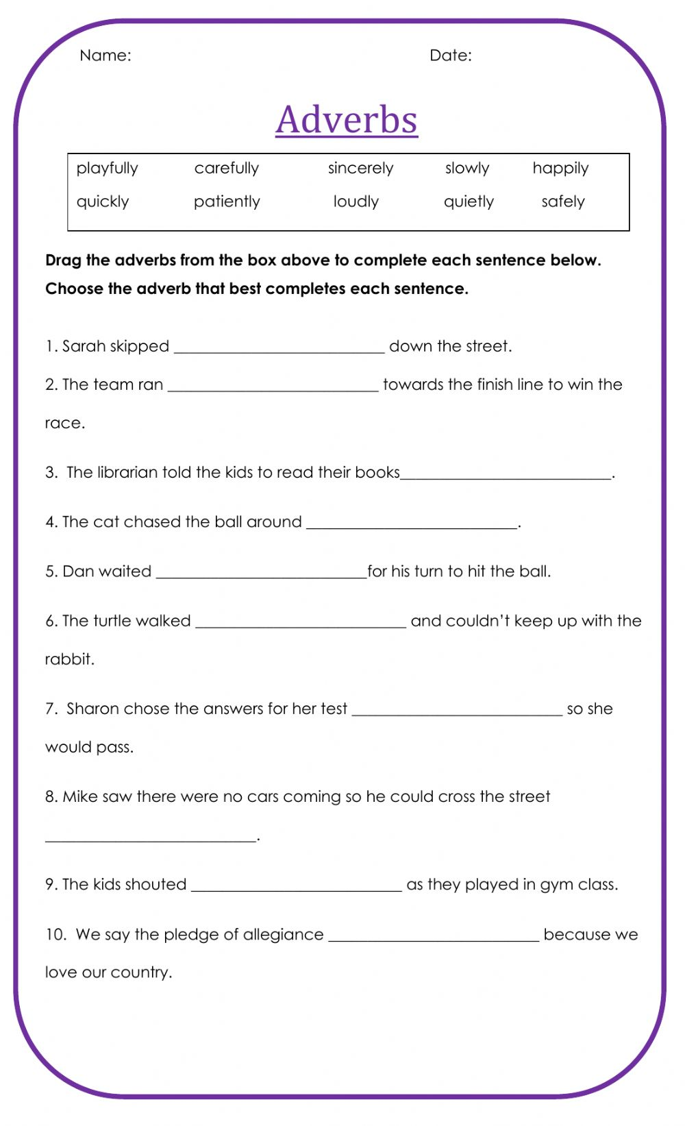 hight resolution of Adverbs free worksheet
