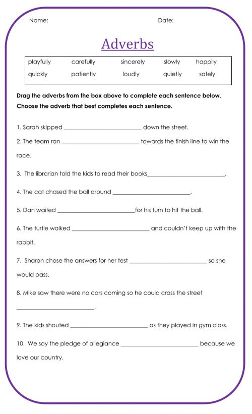 small resolution of Adverbs free worksheet
