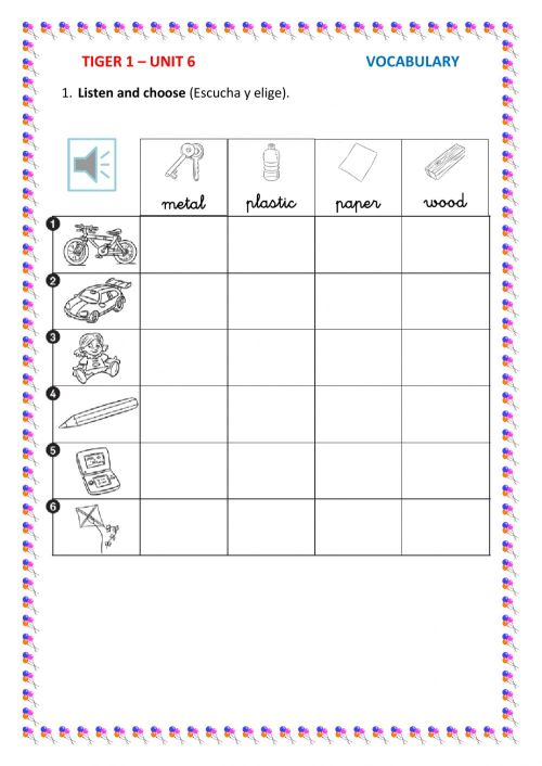 small resolution of Materials online activity for Grade 1