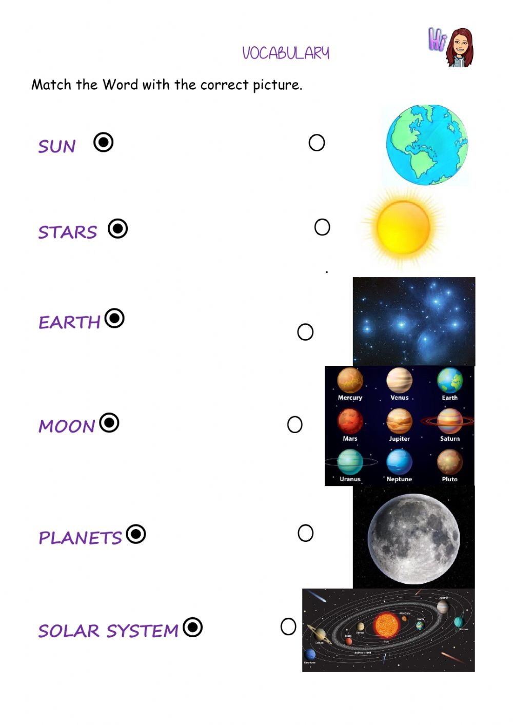 hight resolution of The sky- universe interactive worksheet