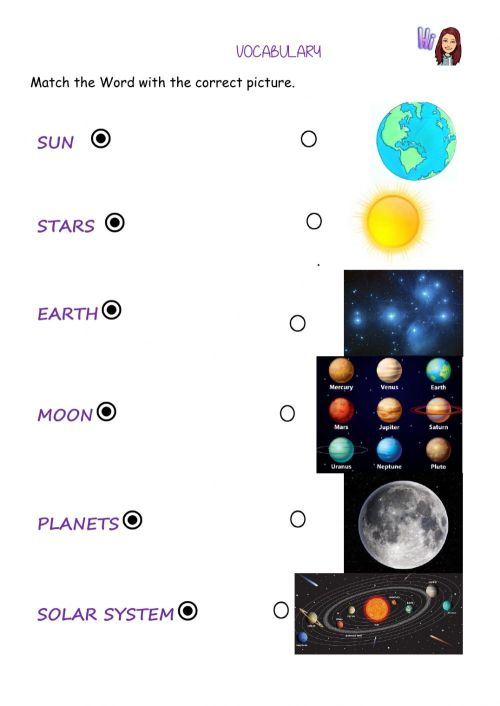 small resolution of The sky- universe interactive worksheet