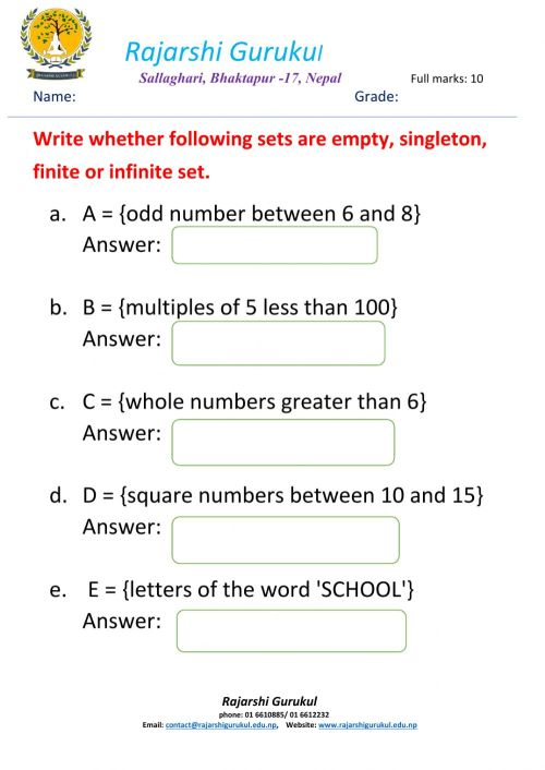 small resolution of Sets worksheet