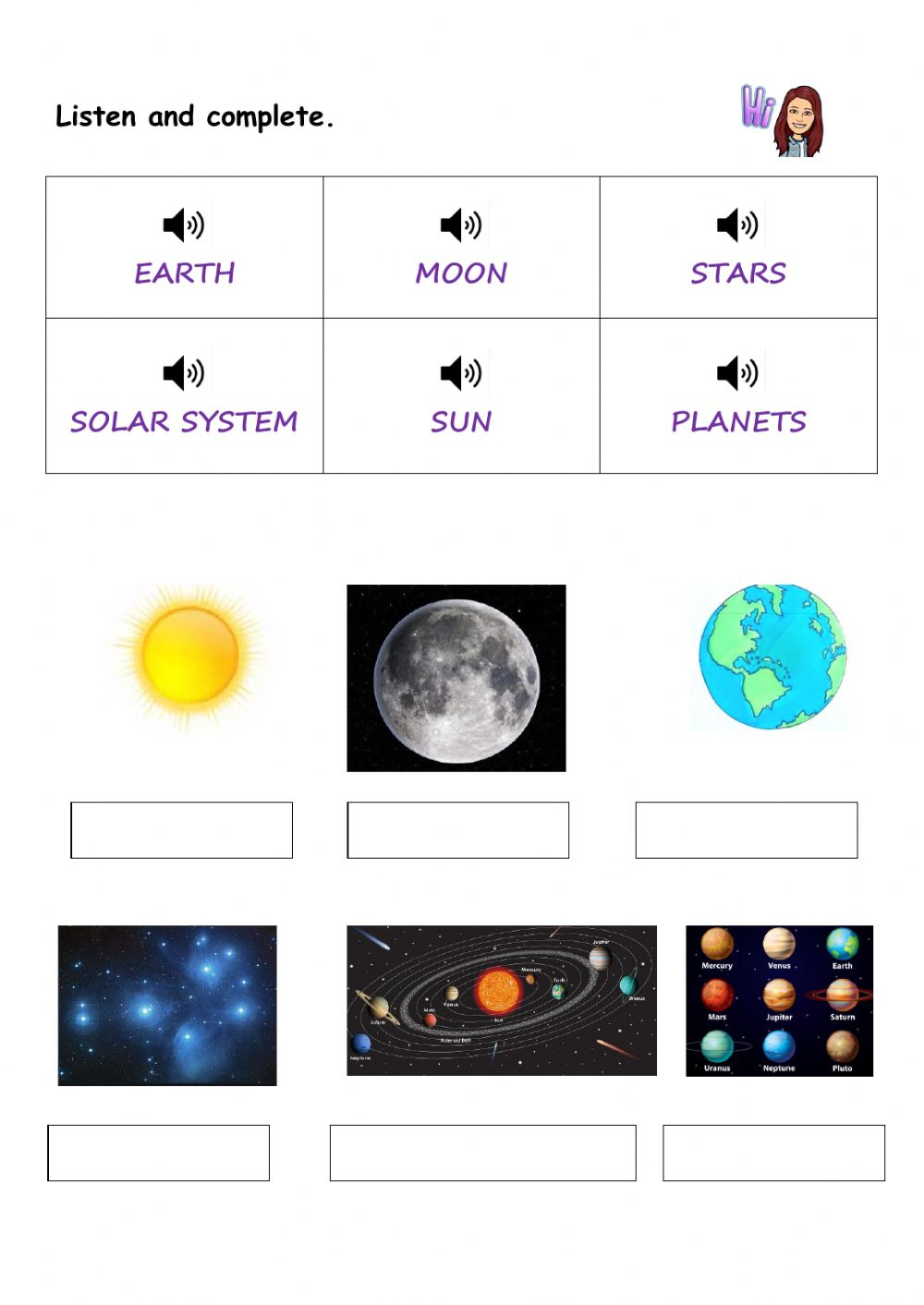 hight resolution of The sky- universe activity