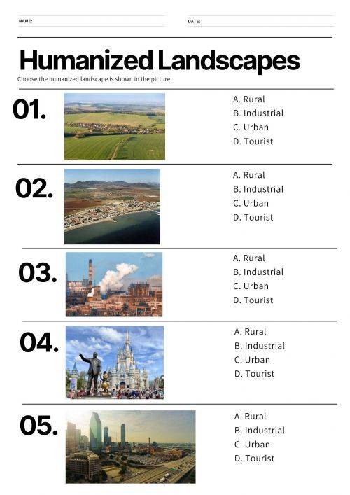 small resolution of Humanized Landscapes worksheet