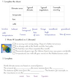 Weather and climate online worksheet [ 1217 x 1000 Pixel ]