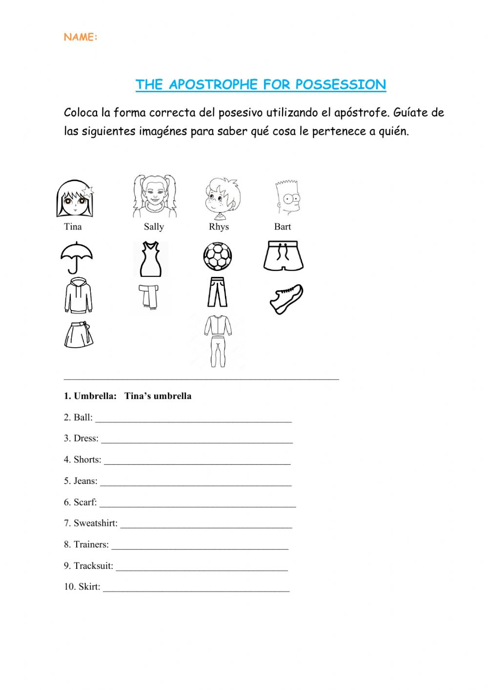 hight resolution of Possessive the apostrophe worksheet