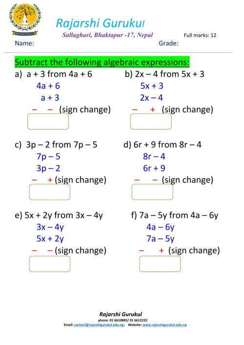 small resolution of Algebraic expressions interactive worksheet