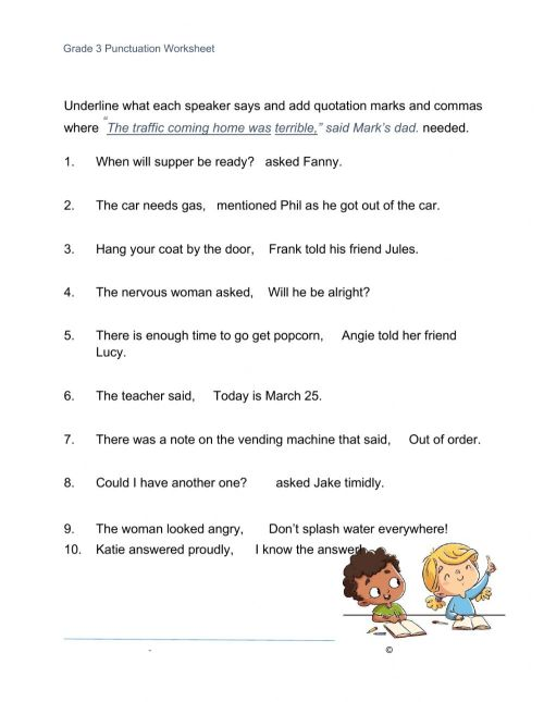 small resolution of Quotation Marks worksheet