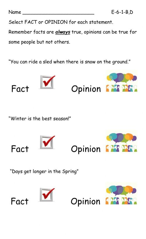 small resolution of Fact-opinion worksheet