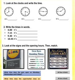 What time is it? online exercise for Grade 3 [ 1332 x 1000 Pixel ]