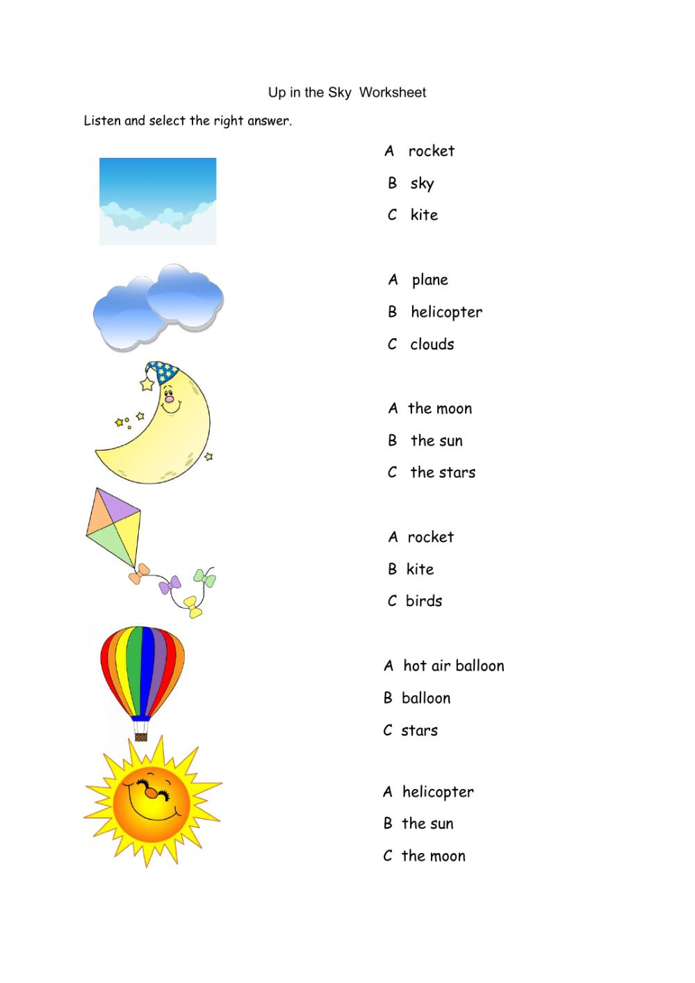 hight resolution of Up in the Sky worksheet