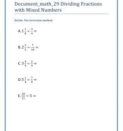 Dividing Fractions with Mixed Numbers worksheet [ 1291 x 1000 Pixel ]