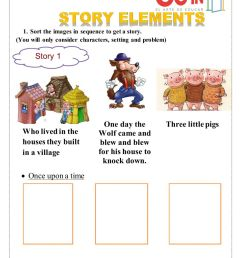 Story elements activity [ 1291 x 1000 Pixel ]