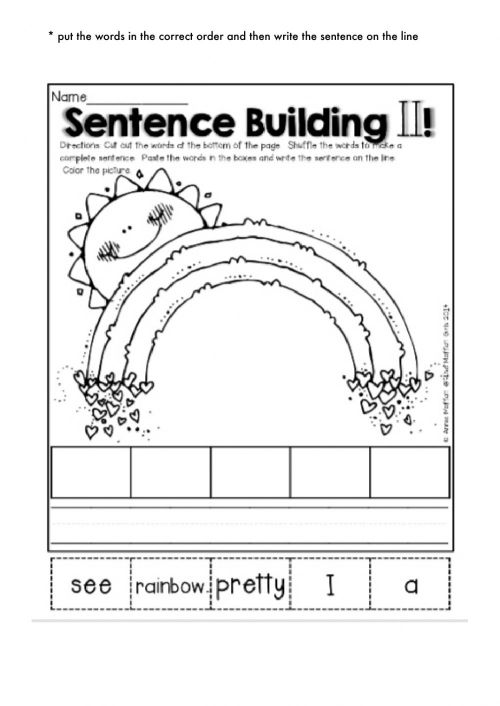 small resolution of Sentence building 2 interactive worksheet