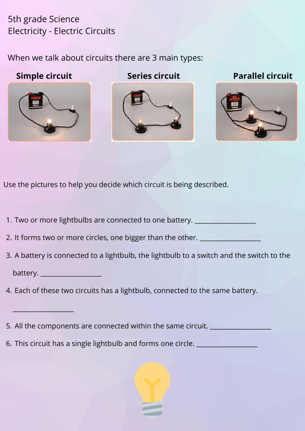 hight resolution of Electric Circuits 2 worksheet