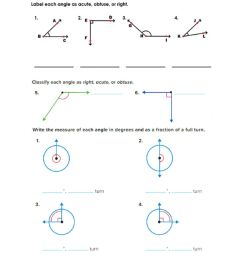 Classify angles and measuring by a fraction of full turn worksheet [ 1291 x 1000 Pixel ]