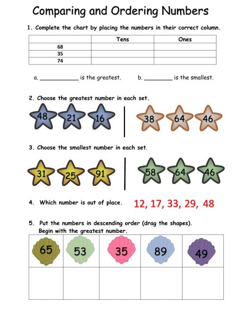 small resolution of Comparing and Ordering Numbers worksheet