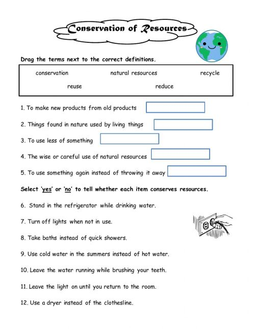small resolution of Conserving Natural Resources worksheet