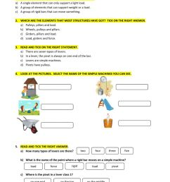 Simple machines online exercise for GRADE 4 [ 1413 x 1000 Pixel ]