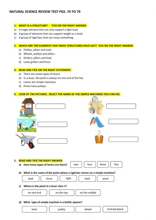 small resolution of Simple machines online exercise for GRADE 4