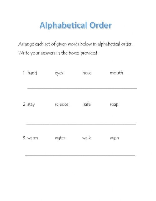 small resolution of Alphabetical Order interactive worksheet