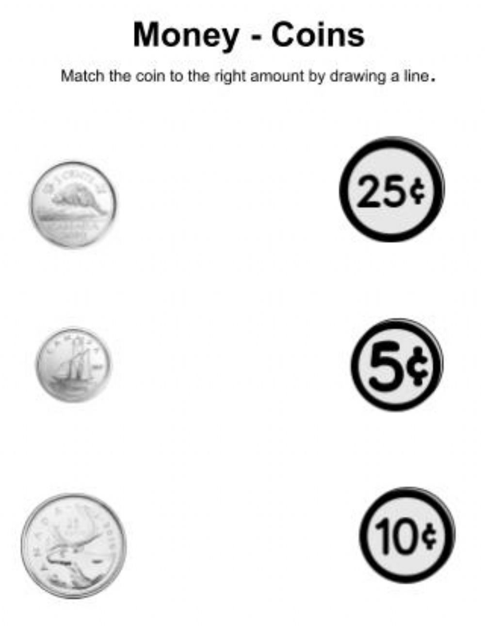 medium resolution of Canadian Coins exercise
