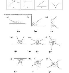 Finding missing angles worksheet [ 1413 x 1000 Pixel ]