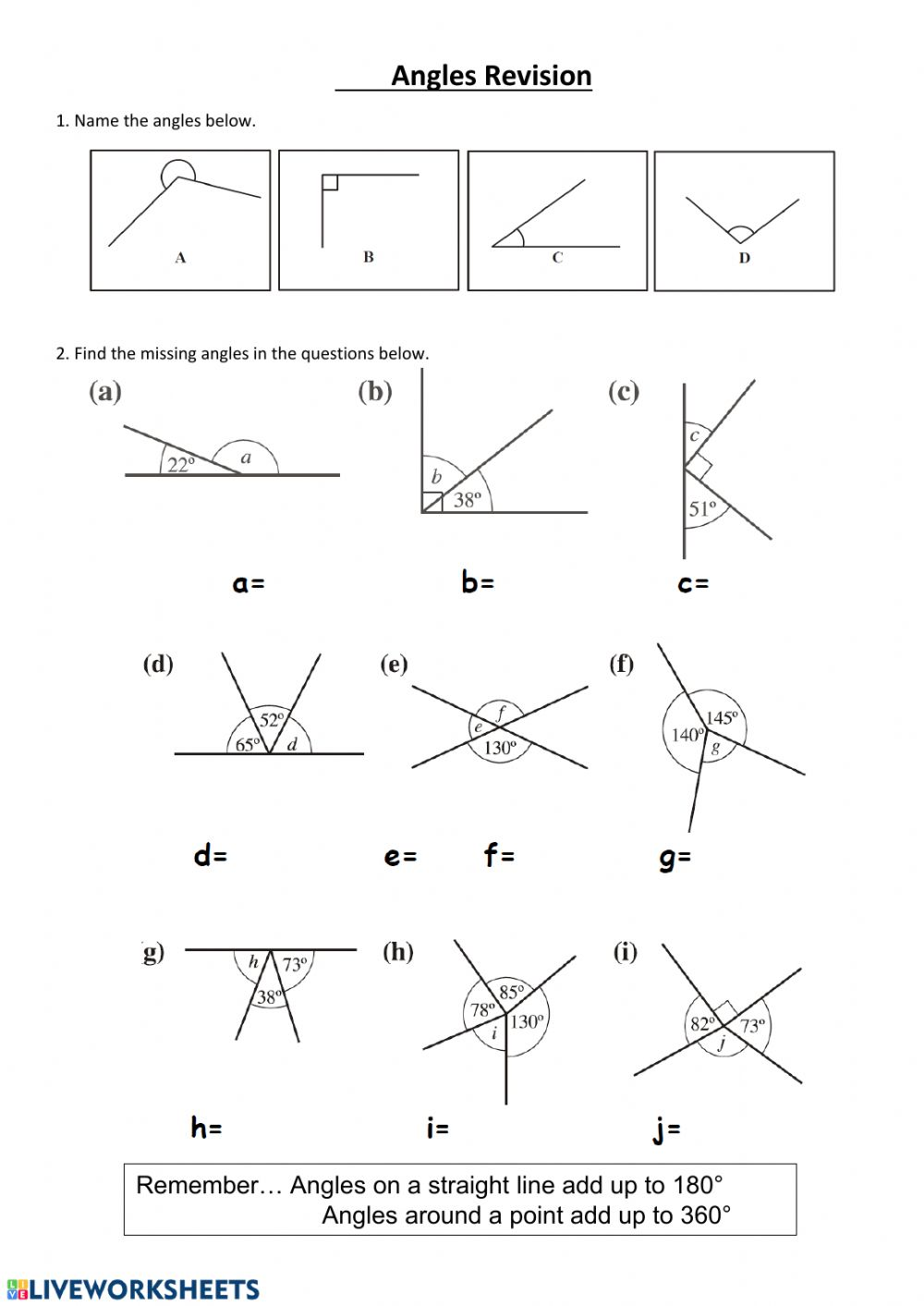medium resolution of Finding missing angles worksheet