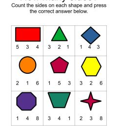 Counting Sides on Shapes worksheet [ 1413 x 1000 Pixel ]