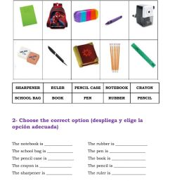 Class objects and Colours interactive worksheet [ 1413 x 1000 Pixel ]