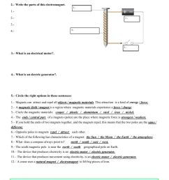 magnetism and electricity 4th grade worksheets Cheaper Than Retail Price\u003e  Buy Clothing [ 1413 x 1000 Pixel ]