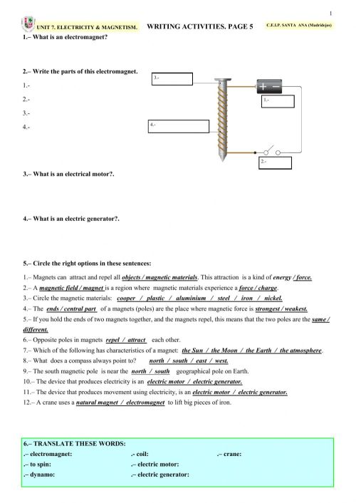 small resolution of magnetism and electricity 4th grade worksheets Cheaper Than Retail Price\u003e  Buy Clothing