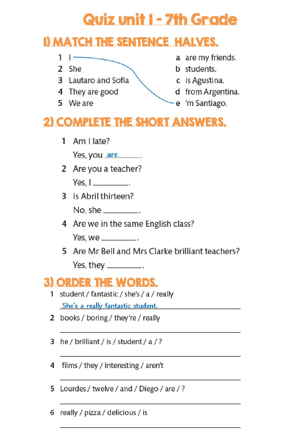 hight resolution of Quiz unit 1 7th grade interactive worksheet