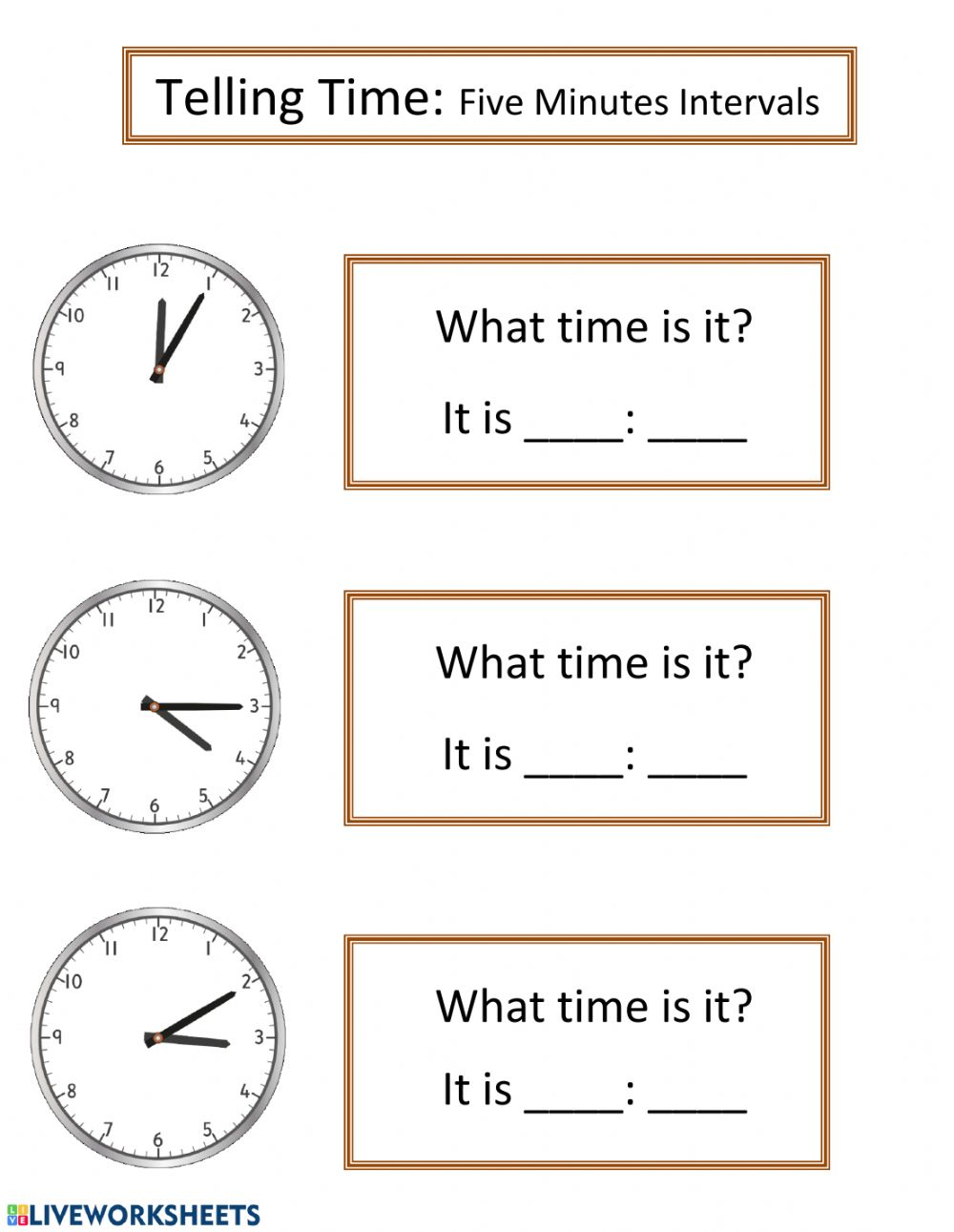 hight resolution of Telling Time online pdf worksheet
