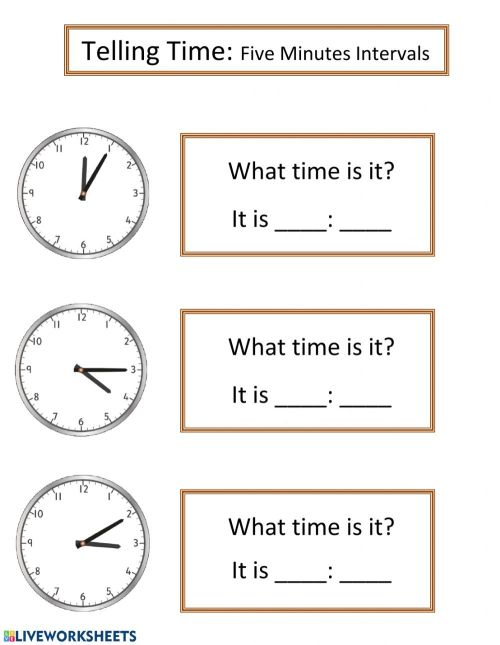 small resolution of Telling Time online pdf worksheet