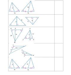 Using proportions with special segments of similar triangles worksheet [ 1291 x 1000 Pixel ]