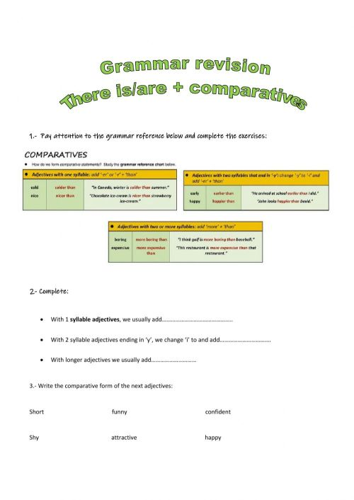small resolution of Grammar for 5th graders worksheet